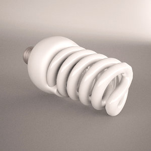 lamp helical fluorescent illuminated 3d model