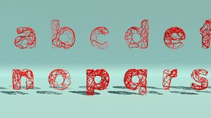 alphabet splines small 3d ma