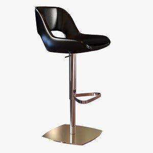 stool rigid shell 3d obj