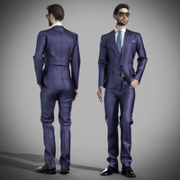 3d model of man suit
