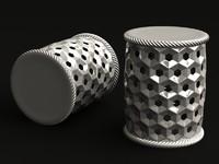 stool metal 3d model