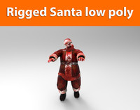 3ds zombie santa rigged character