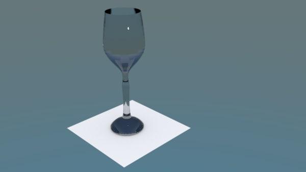 3d model simple goblet taca