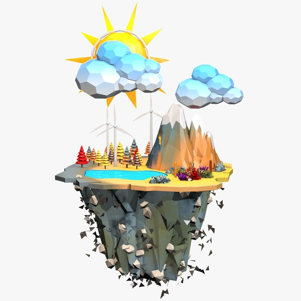 3ds floating island