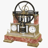 3d french industrial steam engine model