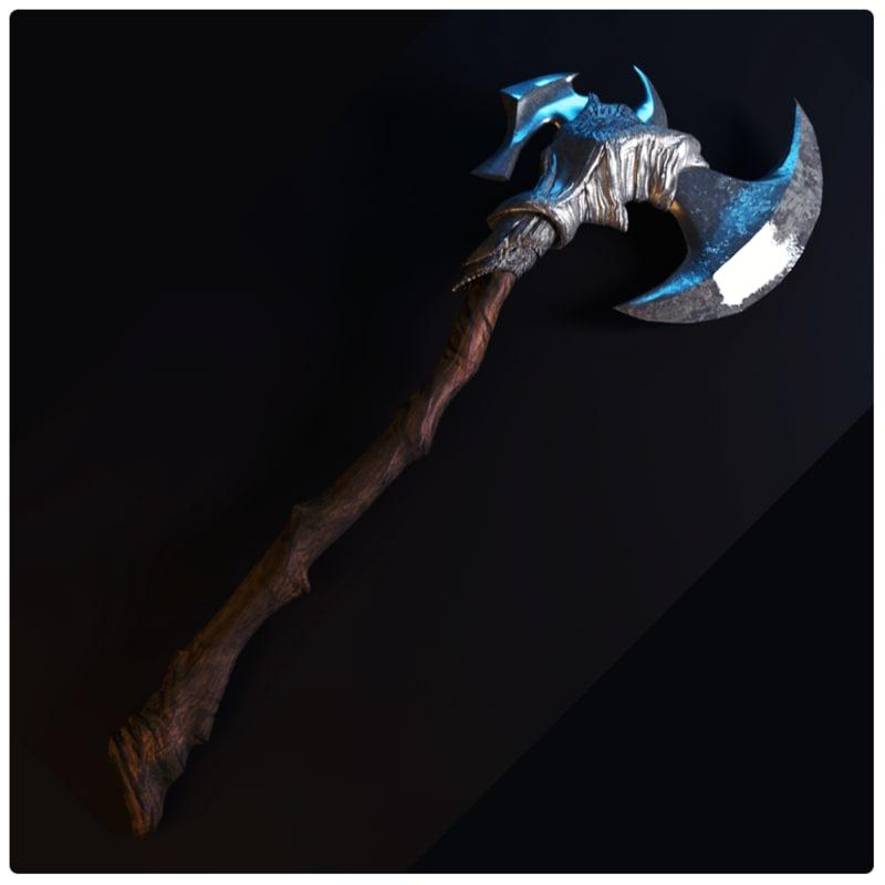 3d warrior axe