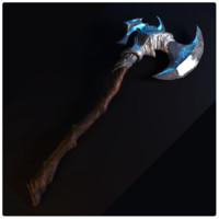 3d warrior axe