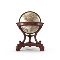3d model antique globe office