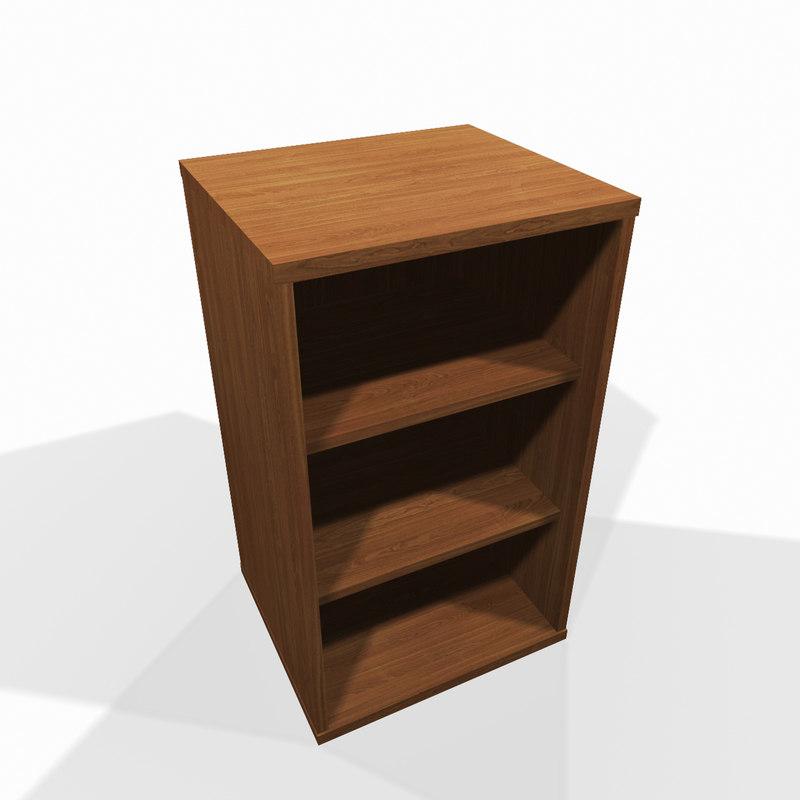 3d model simple wooden shelf