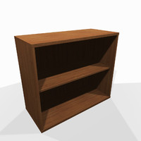 3d simple small wooden shelf model