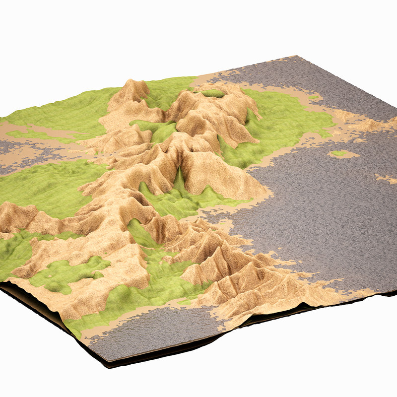 mountain highpoly obj