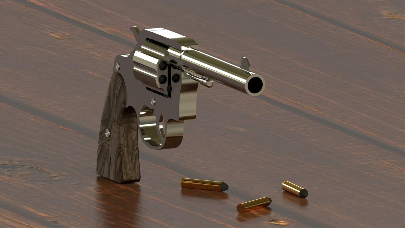 3d model colt revolver