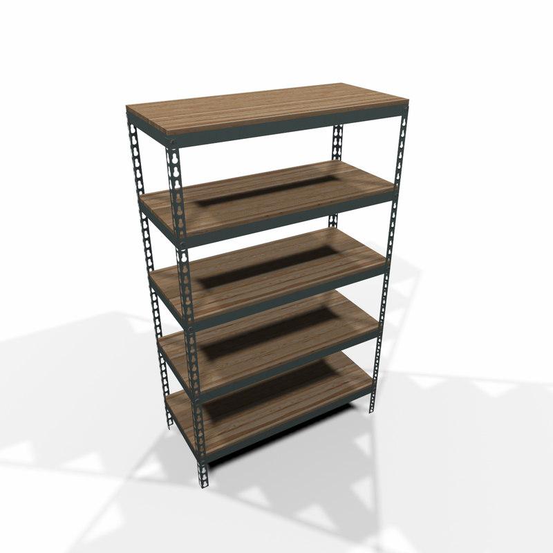 3d model modular storage shelf