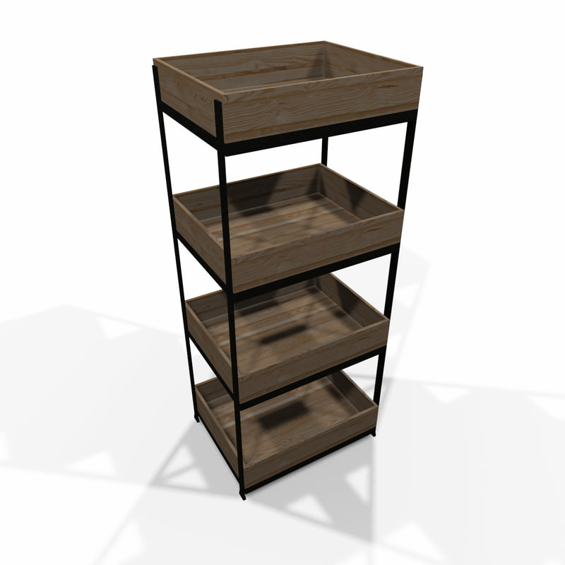 modular storage shelf 3d max