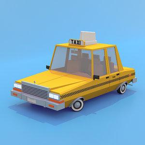 3d taxi cab