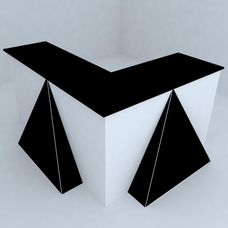 otel desk 3d model
