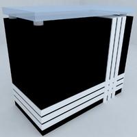reception desk 3 rectangular
