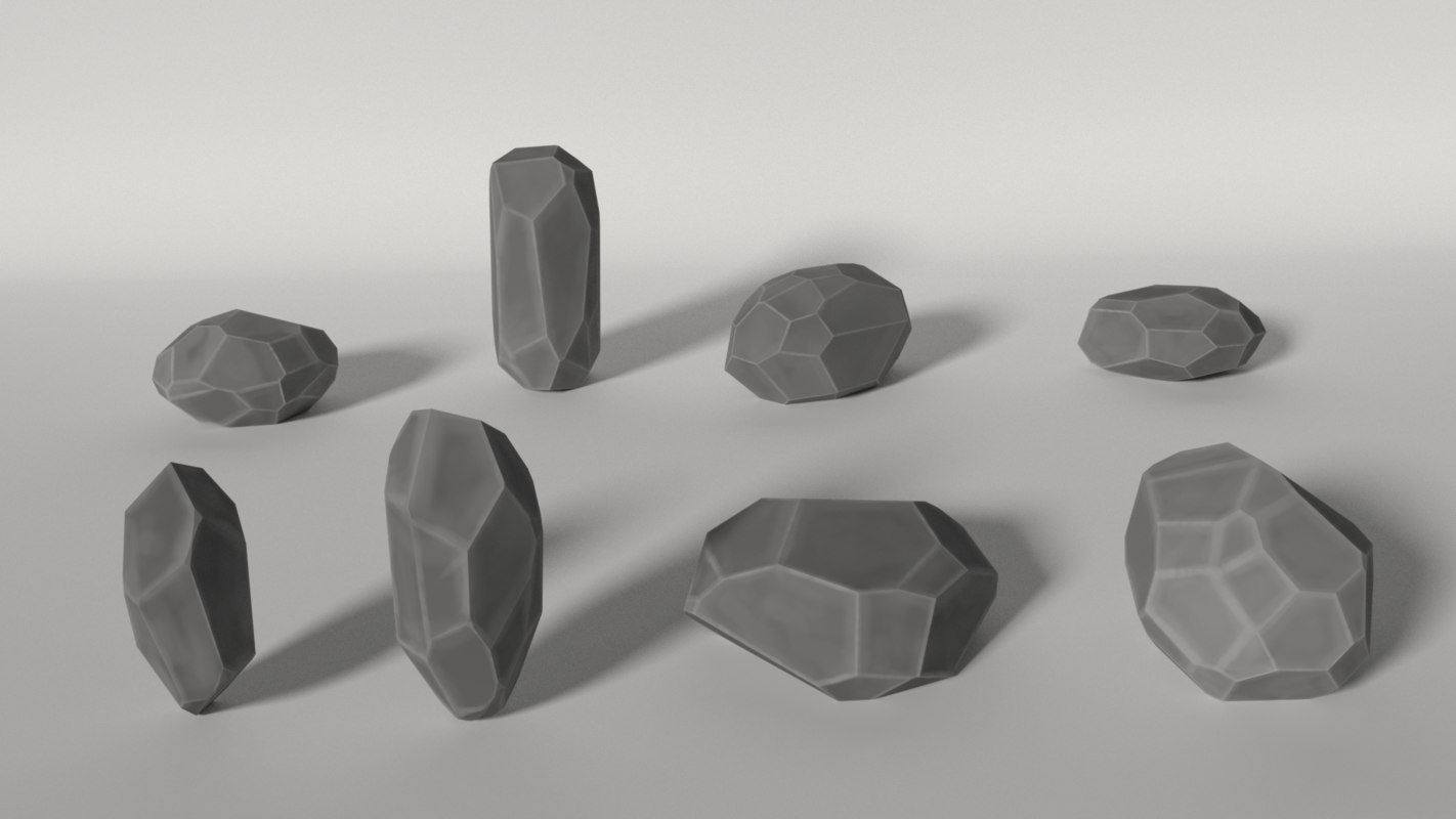 rocks formats grey 3d 3ds
