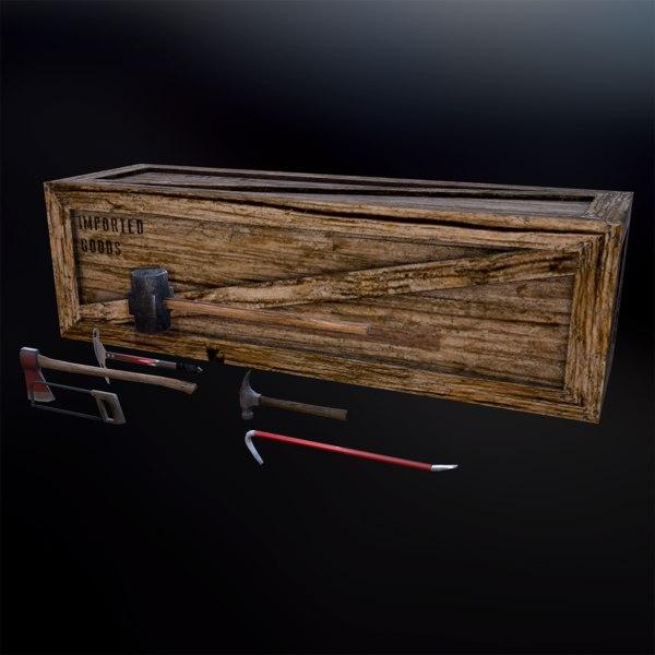 3d tools axe crate