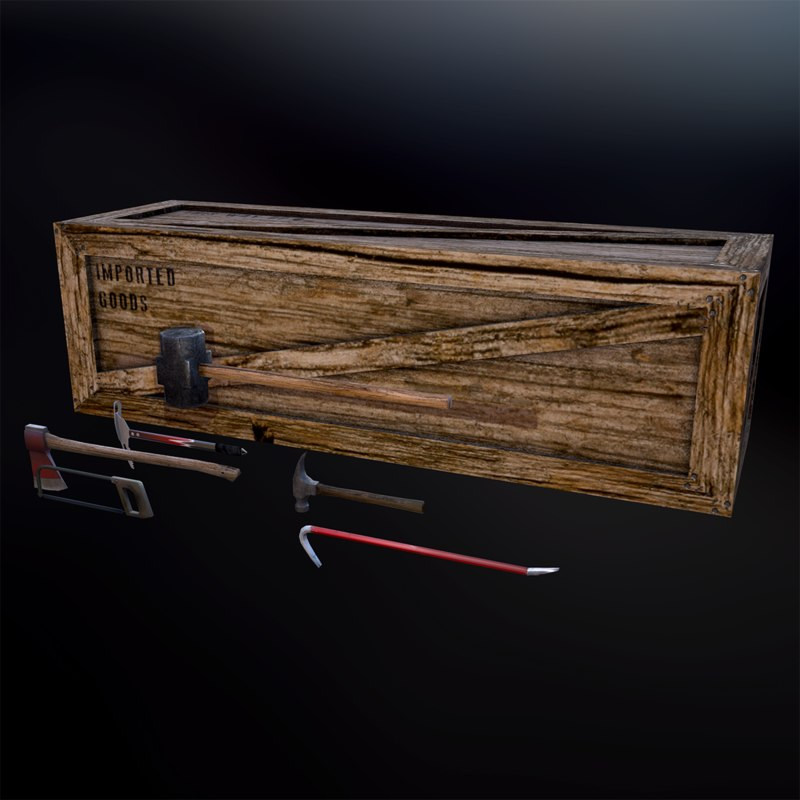 3d tools axe crate