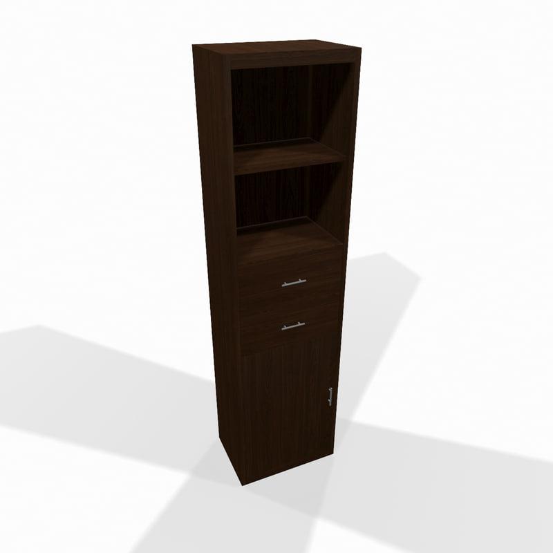 narrow wooden shelf 3d max