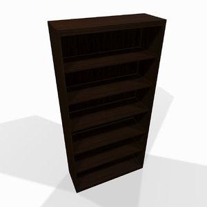 simple wooden shelf 3d max