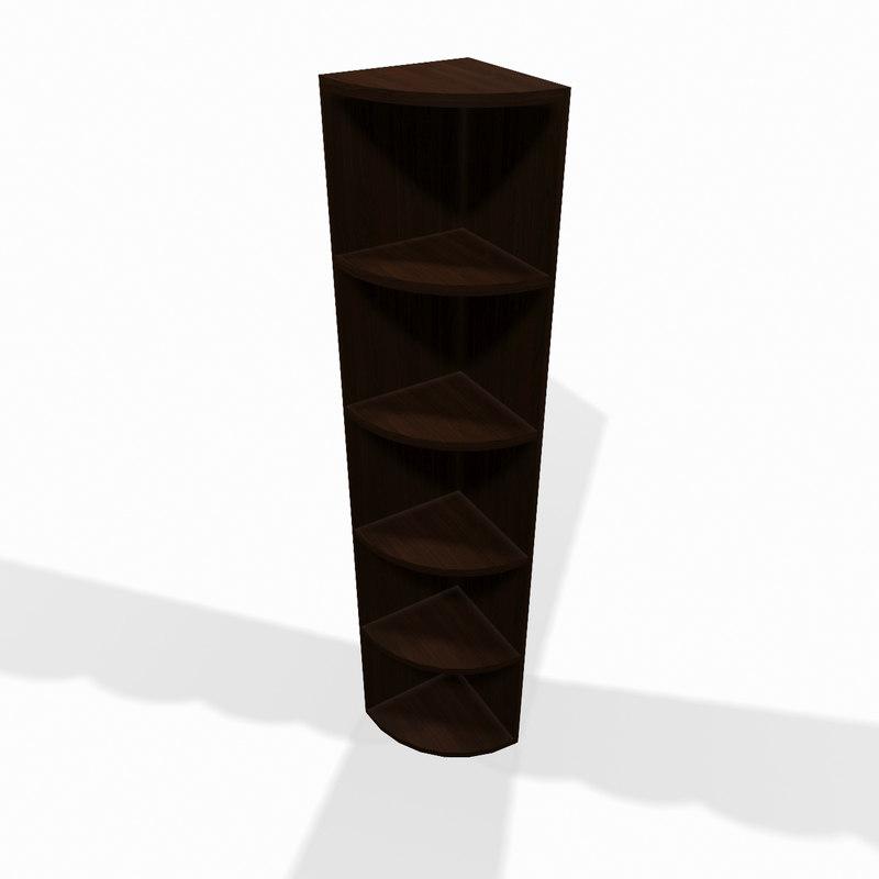 3d simple wooden corner shelf