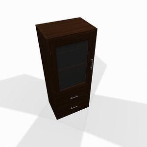 simple wooden shelf 3ds