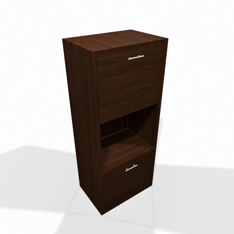 3d simple modern wooden shelf