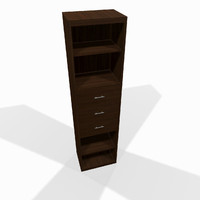 narrow wooden shelf max