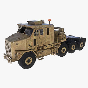 heavy equipment transport oshkosh 3d obj
