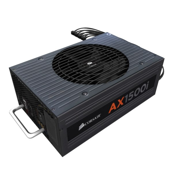 power ax1500i corsair 3d model