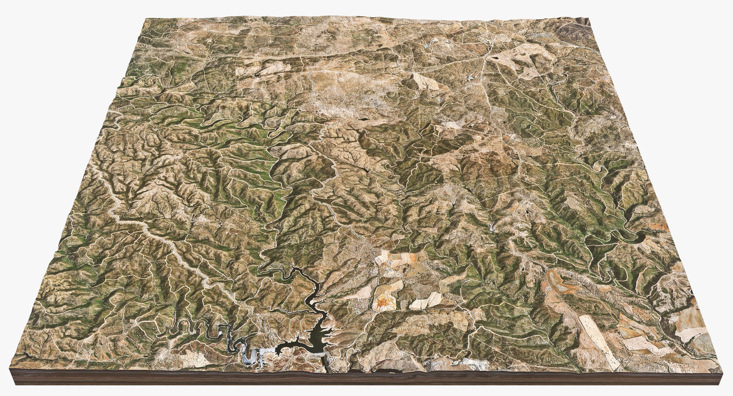 3d hill spain model