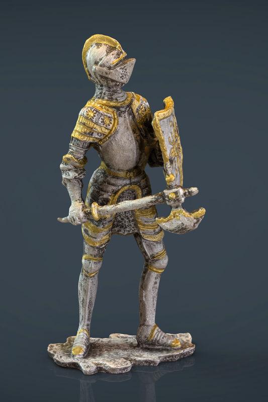 max medieval knight statue