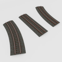 3d railroads tracks