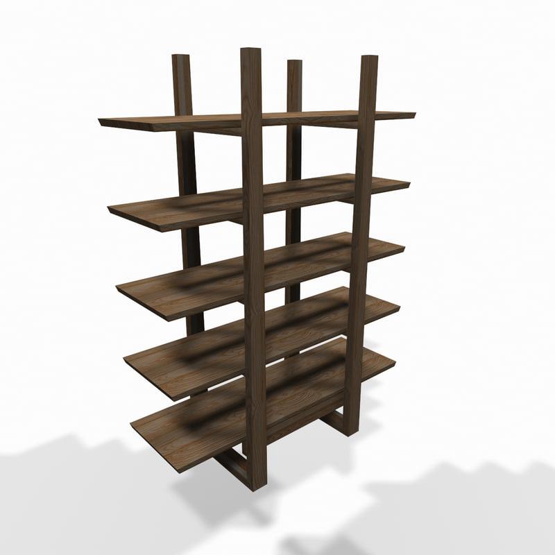 3d model designer wall shelf