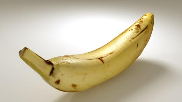 free banana 3d model