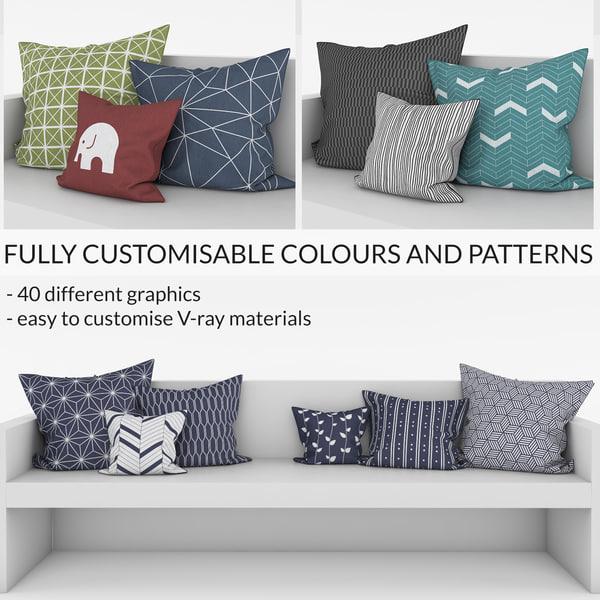 customisable pillows 3d max