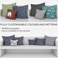 customisable pillows 3d max