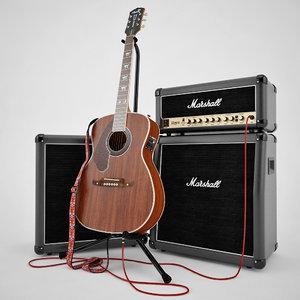 max fender acoustic marshall guitar