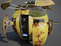 3d model sphere robot