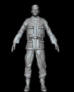 3d model waffen-ss soldier