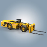 load haul dump forklift 3d max