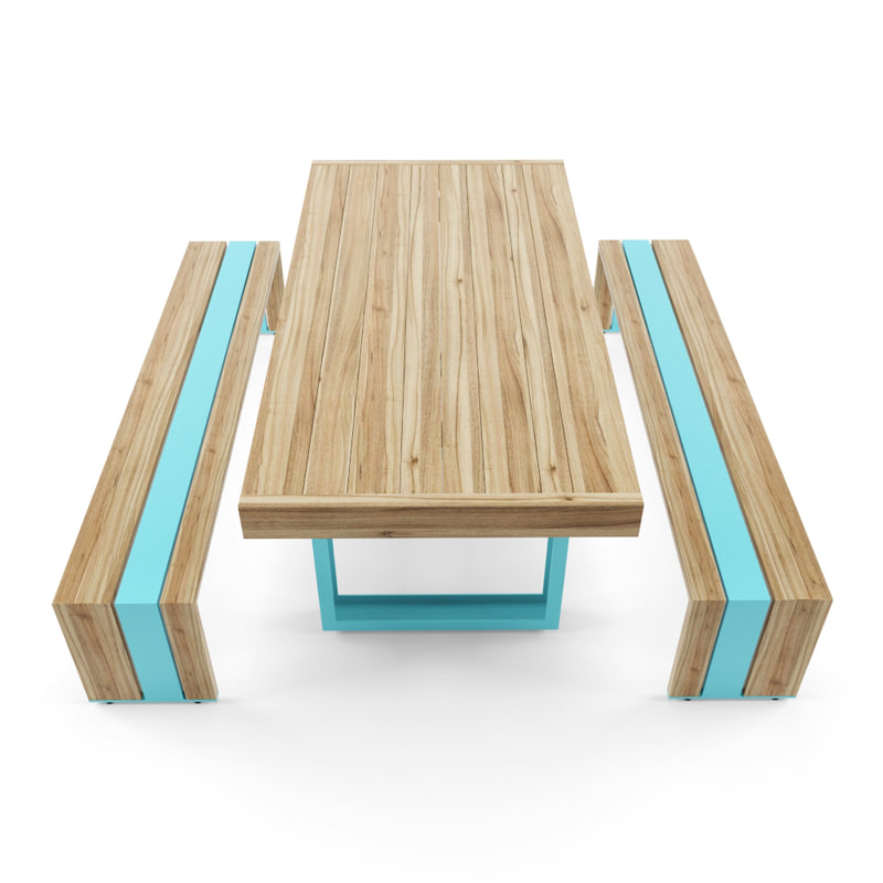 3d model table bench