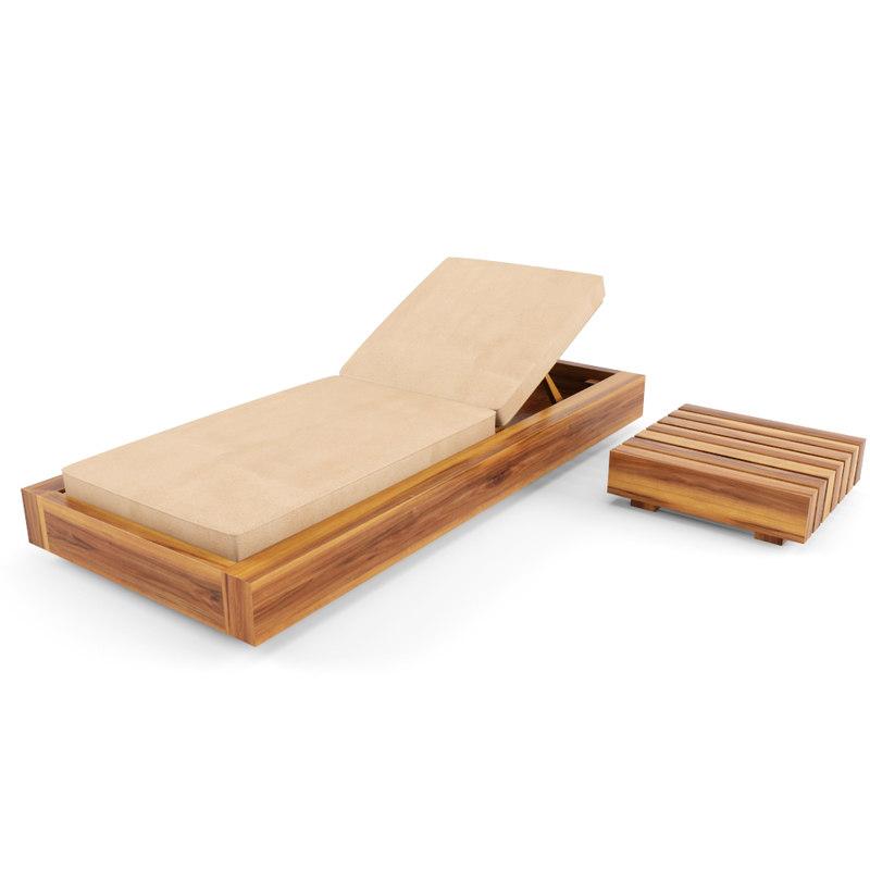 deck chair 3d fbx