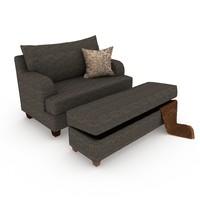 3d sofa classic italian model
