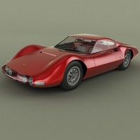 3d 1965 ferrari 206 p model