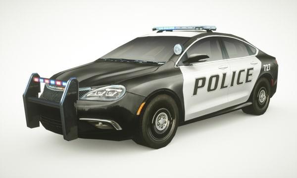 3d c4d generic police sedan v5