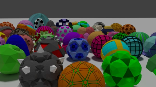 3d pack 50 balls model