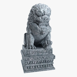 3d model of chinese lions china